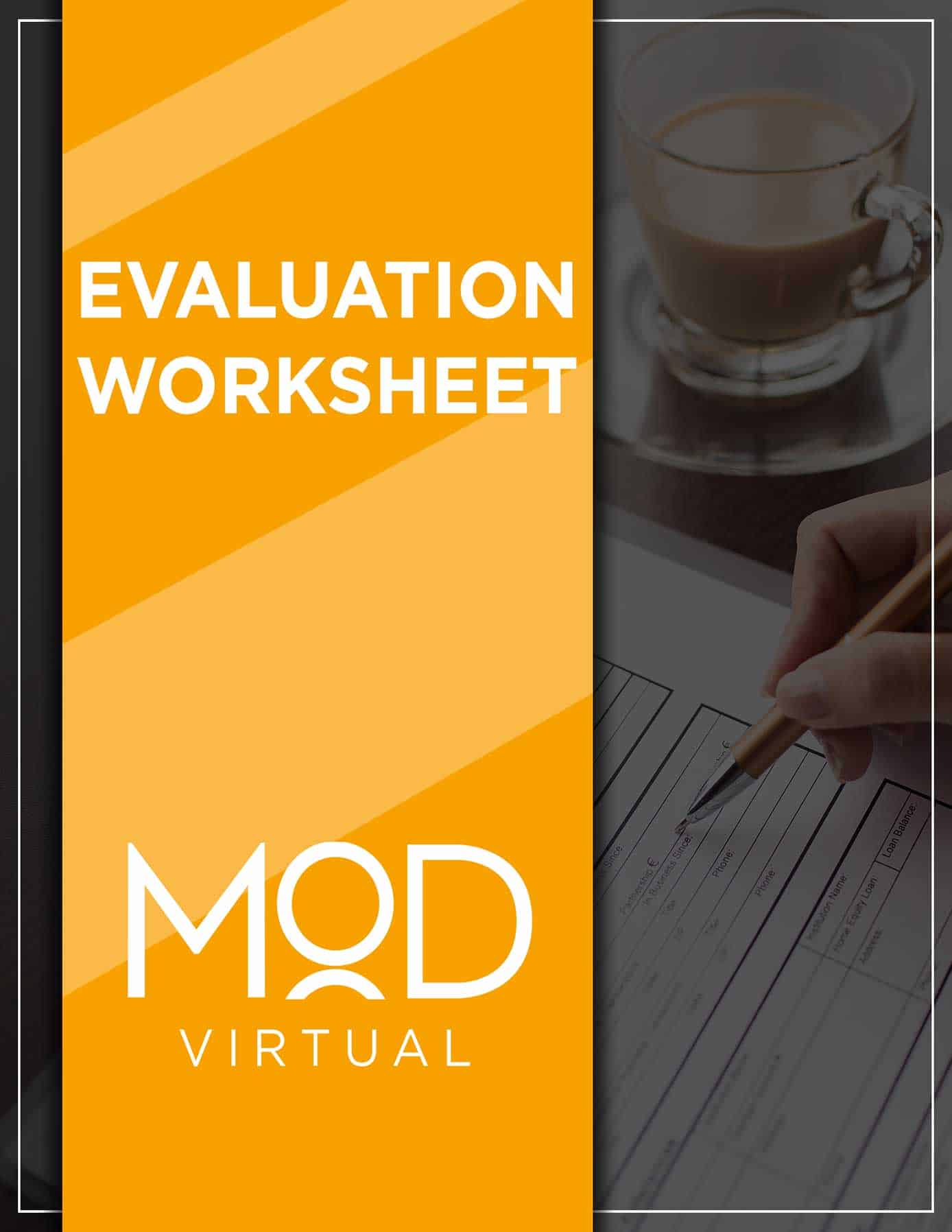 evaluation worksheet guide cover with myoutdesk