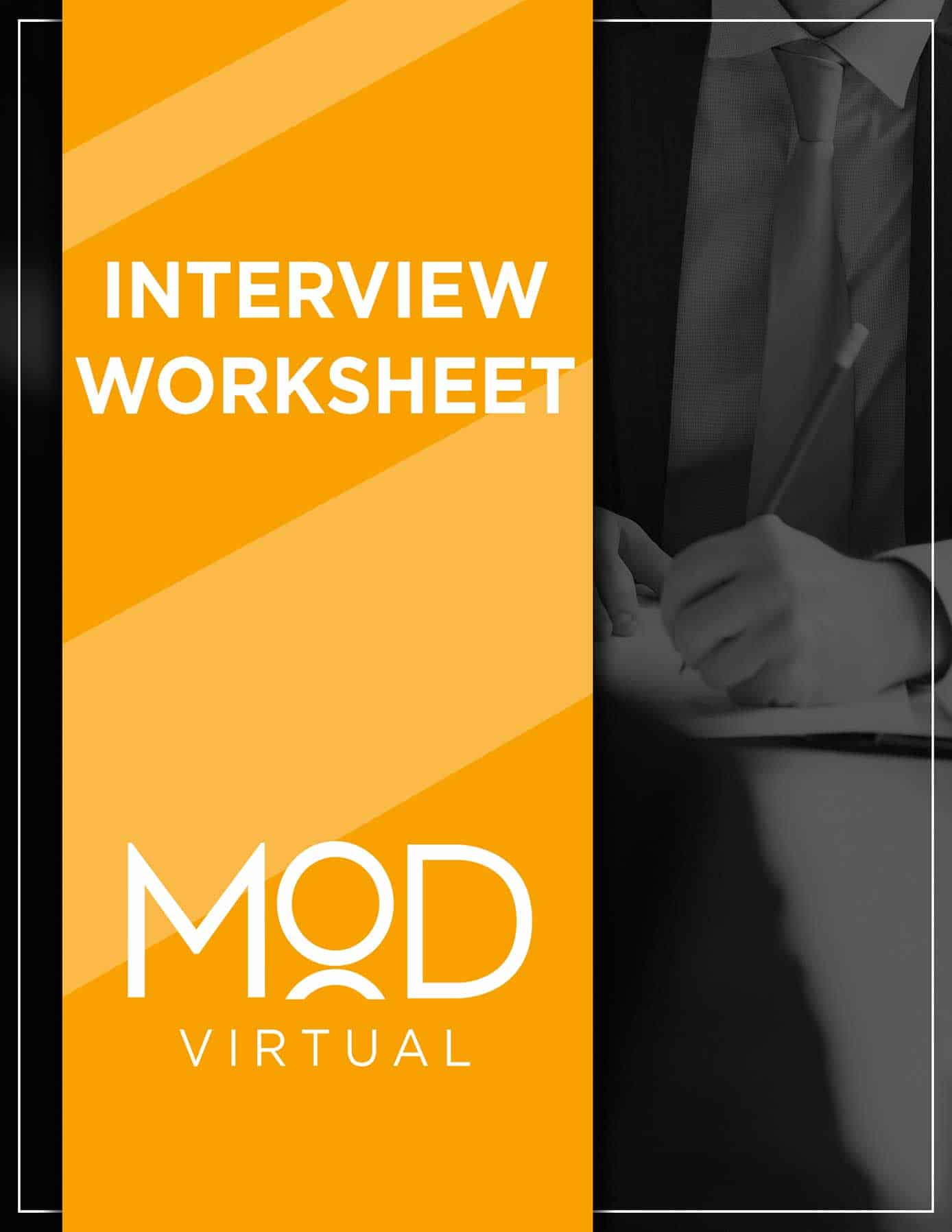 interview worksheet cover with myoutdesk