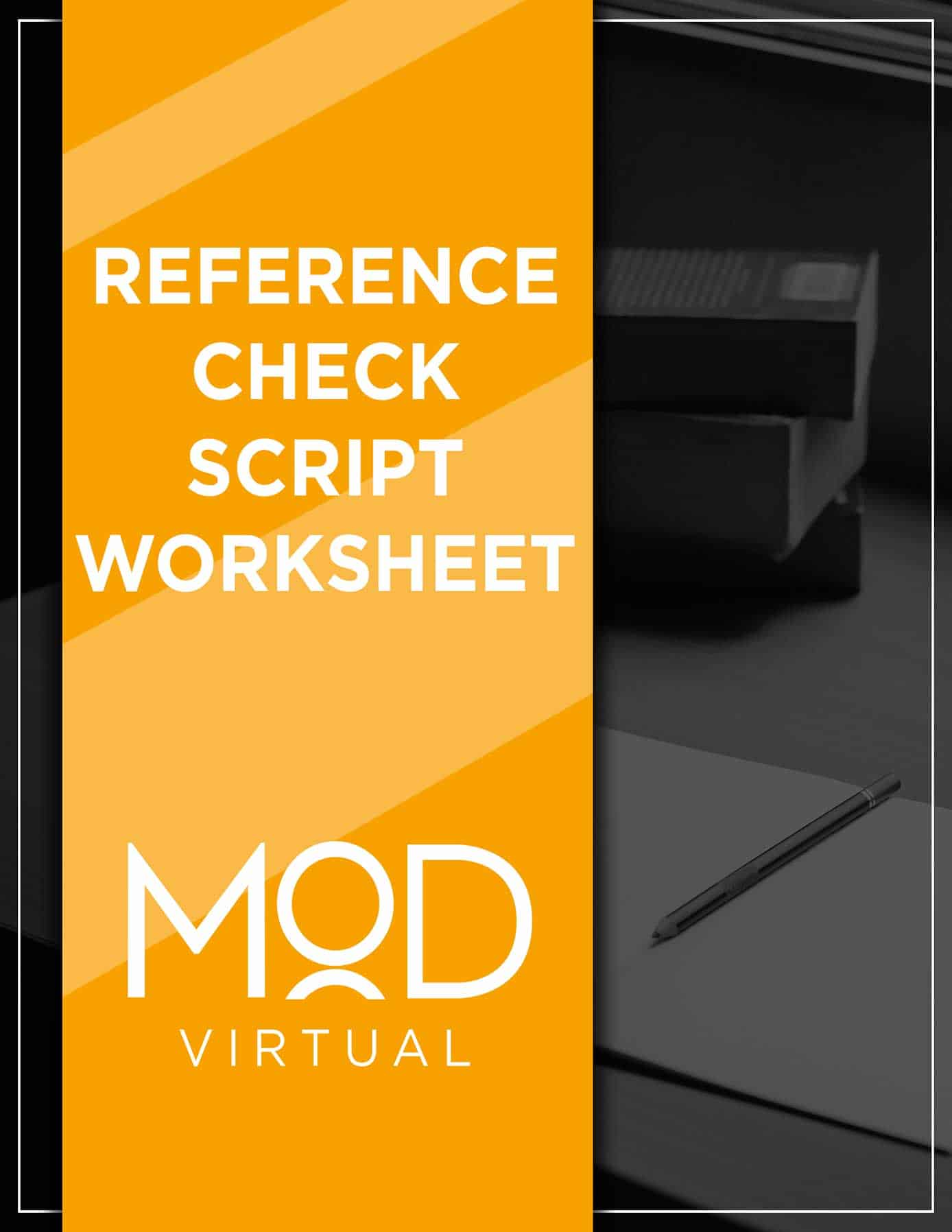 reference check script worksheet with myoutdesk cover
