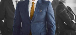 myoutdesk logo on the suit of a faceless businessman