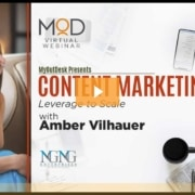 amber vilhauer with myoutdesk presents content marketing leverage to scale