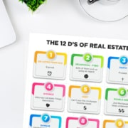 12 D's of real estate list on a desk