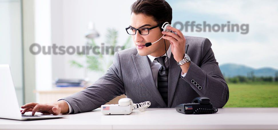 virtual assistant working remotely outsourcing vs offshoring