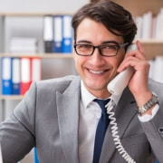 myoutdesk real estate inside sales agent virtual assistant on the phone
