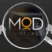 myoutdesk logo under a magnifying glass.