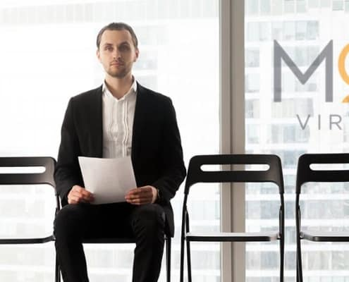 job candidate waiting eagerly for his interview