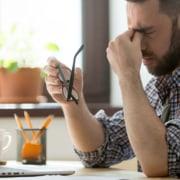 frustrated business owner doesn't have a myoutdesk virtual assistant