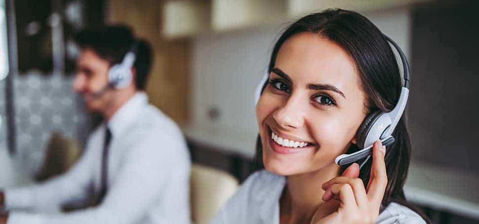 myoutdesk inside sales agent smiling