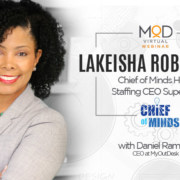 headshot of lakeisha robichaux chief of minds HR & staffing ceo superstar with myoutdesk
