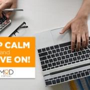 keep calm and thrive on myoutdesk