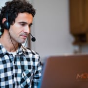 business owner working from home virtually