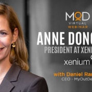anne donovan president at xenium hr portrait with myoutdesk