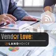landvoice logo two people working virtually