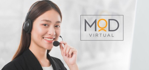 a happy myoutdesk virtual assistant