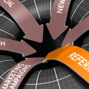a funnel with referrals web search marketing and affiliates going down