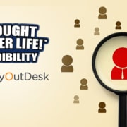 thought leader life credibility text with myoutdesk logo affiliate influencer marketing the right way