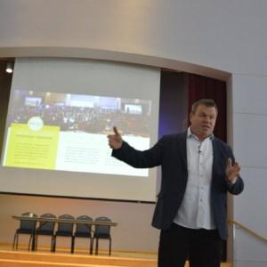 daniel ramsey speaking at a presentation
