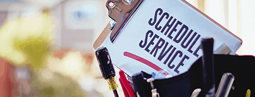 schedule service on clipboard for residential services