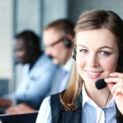 virtual assistant help desk with headset
