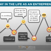The ups and downs in A Day In the Life As An Entrepreneur