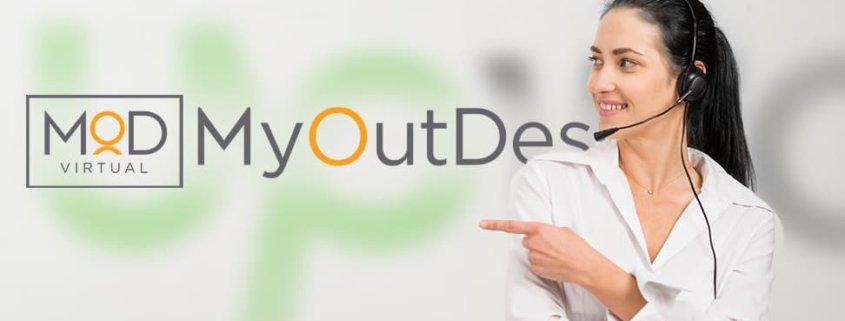 virtual assistant pointing myoutdesk logo