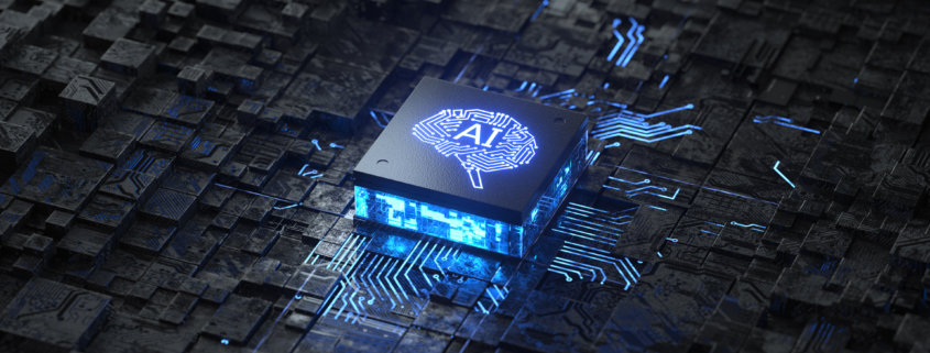 AI chip on a circuit board