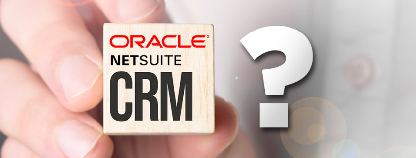 cube being held with oracle logo netsuite and a question mark on the side